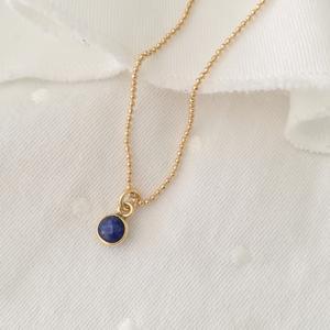 Collana in gold-filled con ciondoli pietra di nascita [+ colori]