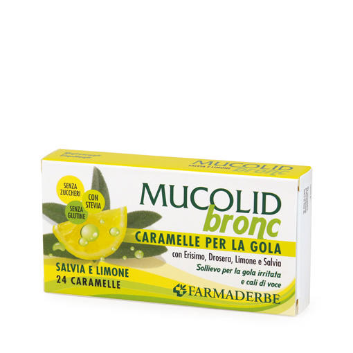 Farmaderbe - Caramelle Salvia&Limone Mucolid bronc
