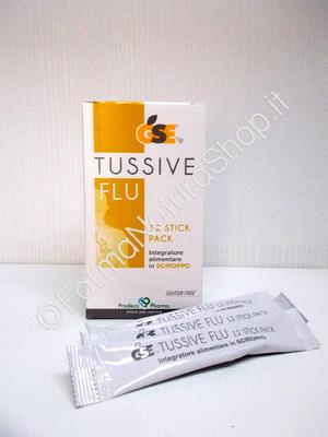GSE TUSSIVE FLU Sciroppo 12 stick pack
