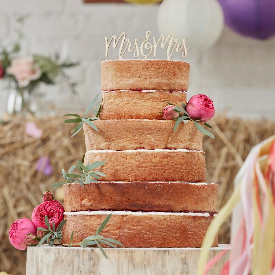 """Cake topper legno """"Mr &Mrs"""""""