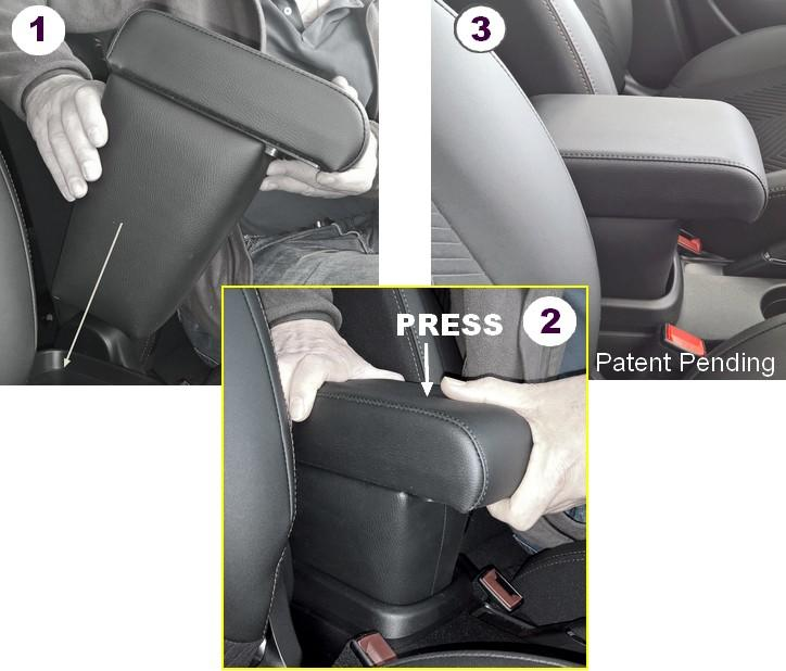 Armrest PREMIUM with storage for Fiat 500L (06/2017>)