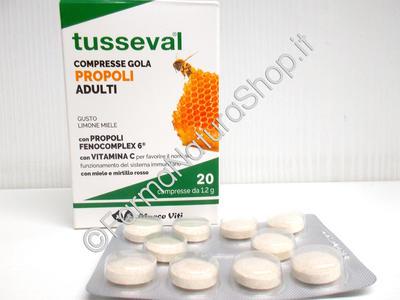 TUSSEVAL COMPRESSE GOLA PROPOLI Adulti
