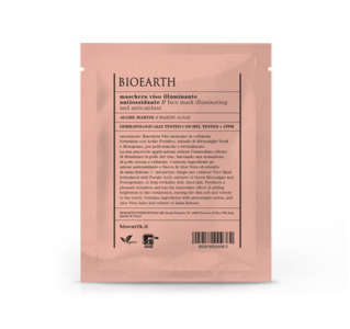 Bioearth - Maschera illuminante antiossidante in cellulosa