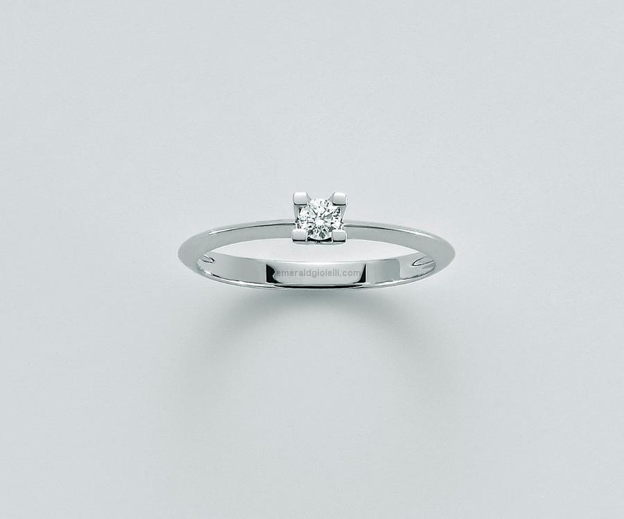 LID3265 d18g7 Anello Solitario con Diamante Miluna -