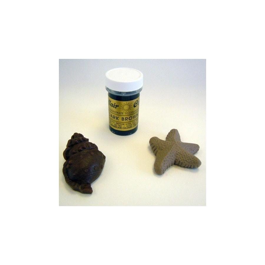 Colorante gel Sugarflair 25 gr marrone scuro