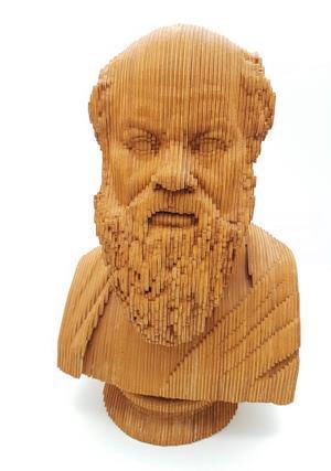 Busto di Socrate 3D