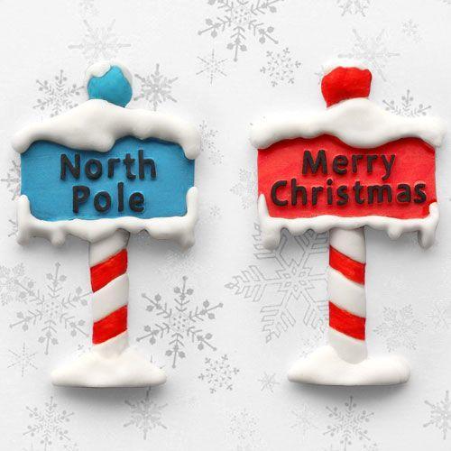 Stampo silicone cartello stradale natalizio  Katie Sue
