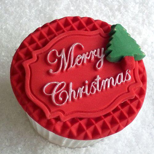 Stampo silicone placca Merry Christmas  Katie Sue