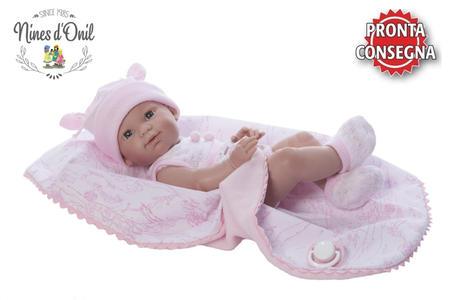 Bambola neonato Femminuccia 'Spring Estuche' in Vinile, con Copertina di Nines d'Onil, Completa di Scatola