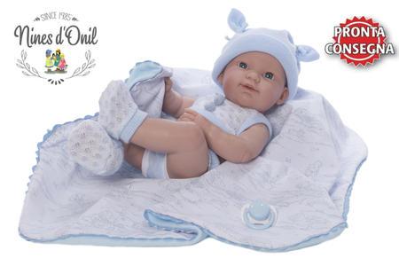 Bambola neonato Maschietto 'Spring Estuche' in Vinile, con Copertina di Nines d'Onil, Completa di Scatola