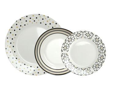 Servizio piatti TOGNANA ORONERO 18 pezzi in porcellana
