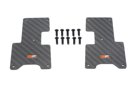 HB Racing - Carbon Arm Covers Rear