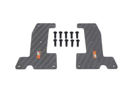 HB Racing - Carbon Arm Covers Front