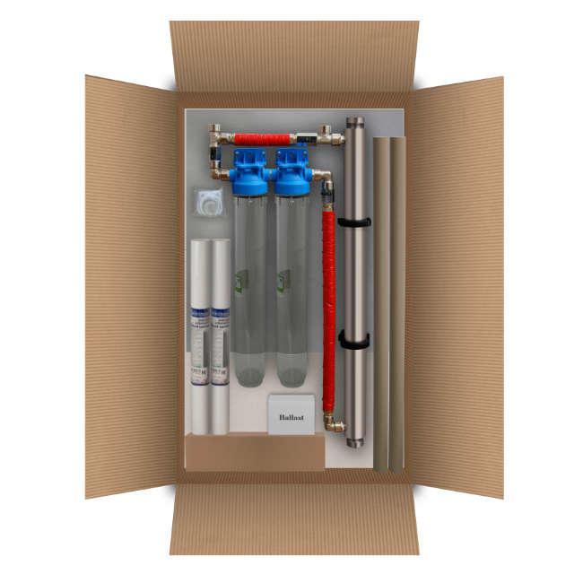 Kit Sterilizzatore centralizzato 30 litri/minuto con prefiltrazione.