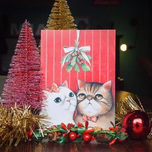 Biglietto Natale vischio