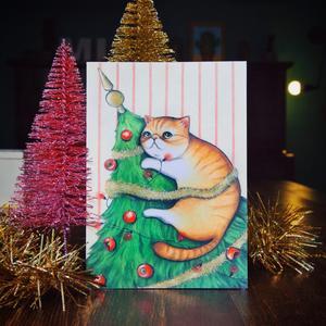 Biglietto Natale Albero