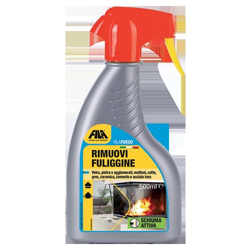 FILAFUEGO detergente schiuma spray specifico per la pulizia di vetri di stufe e camini e rimuovere la fuliggine