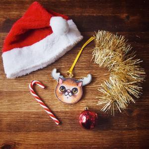 Palla di Natale gatto Renna