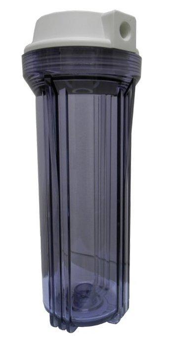 """Tazza porta filtro 10"""" Trasparente con filetto femmina 1/4"""""""