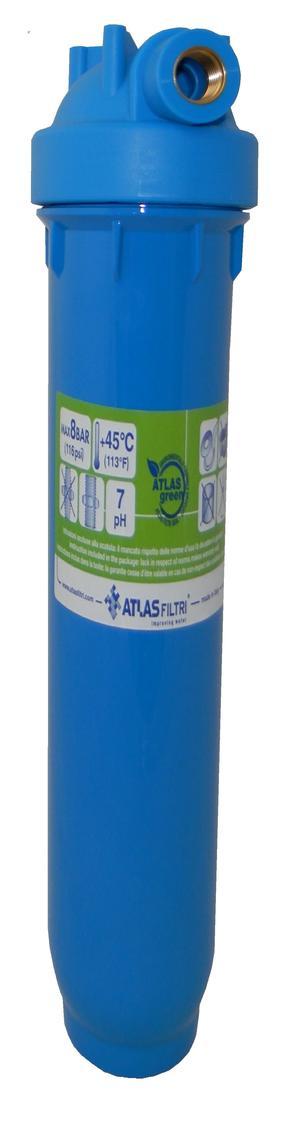 """Tazza porta filtro 20"""" Atlas Blu."""