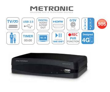 DECODER METRONIC TOPBOX 441627 DVB-T2 REC