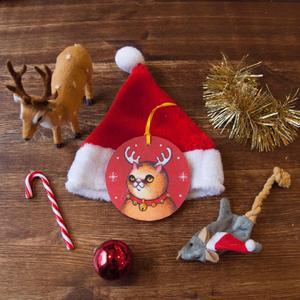 Palla di Natale Gatto Rudolf