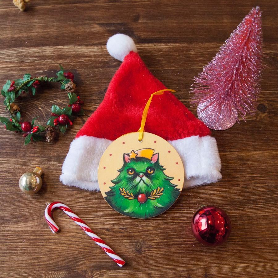 Palla di Natale Gatto albero