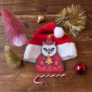 Palla di Natale gatto cannibale