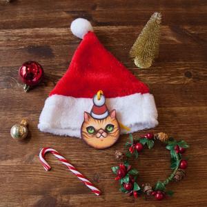 Palla di Natale gatto con cappello