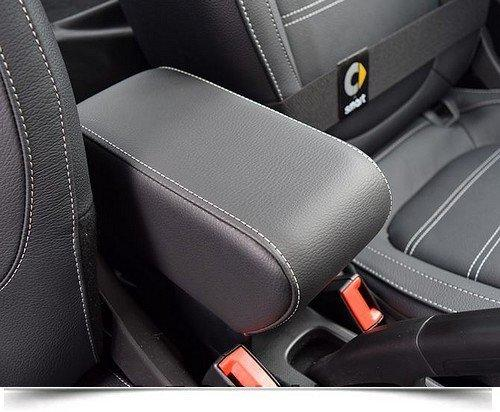 Armrest with storage for Smart ForTwo - ForFour New in black Eco leather