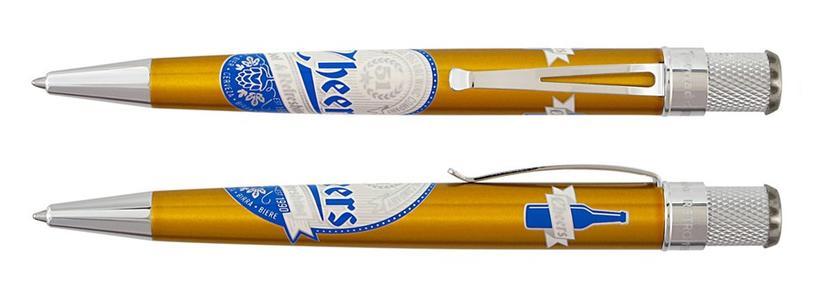 Roller in metallo etichetta BEER finiture cromo