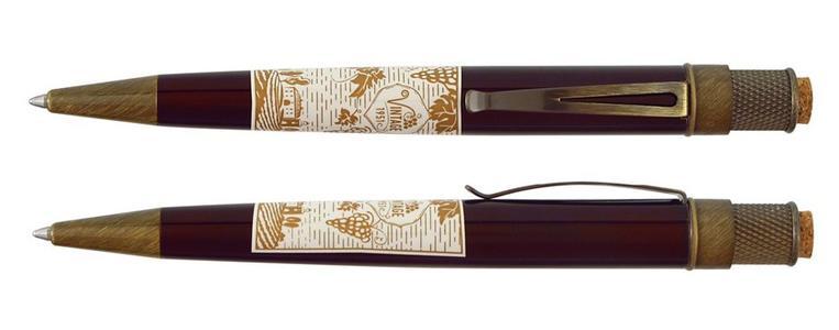 Roller in metallo etichetta VINO ROSSO finiture rame anticato