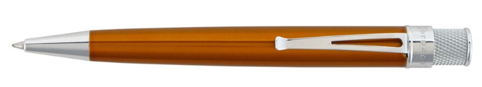 Roller in metallo laccato ARANCIO finiture cromo