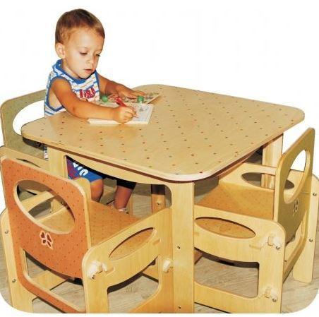 Tavolo bambino in legno – decoro Pois di Dida