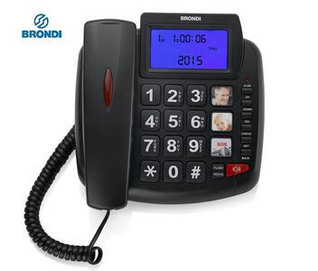 BRONDI Bravo telefono fisso 90lcd NERO - BIANCO
