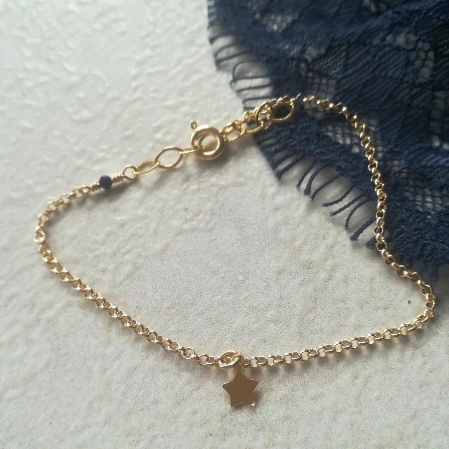 Bracciale in gold filled con piccola stella