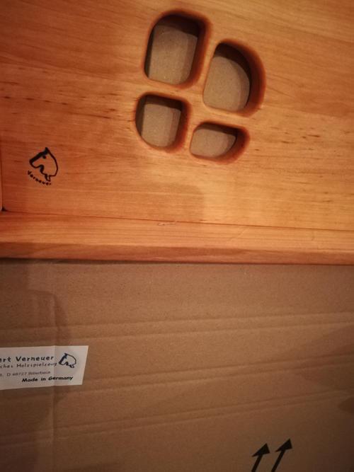 Fornelli con lavello in Legno Massello completo di Scaffale e portasalviette