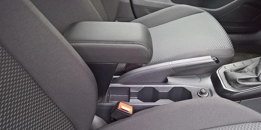 Bracciolo regolabile con portaoggetti per Volkswagen Polo (dal 2017) VI Serie