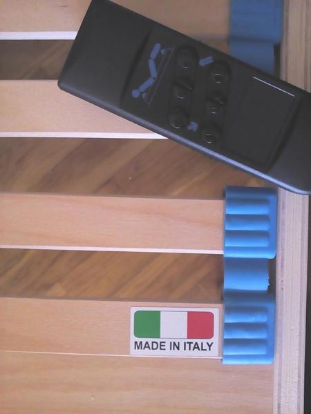 Rete Elettrica Regolabile Maggiore a Doghe di Legno da Cm. 165x190/195/200 Con Batteria di Emergenza Prodotto Italiano