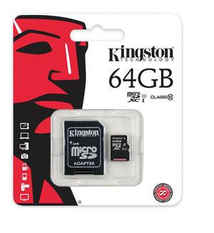 MICRO SD 64GB KINGSTONE CLA 10