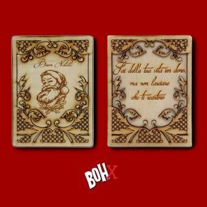 Un'incisione su legno a tema natalizio