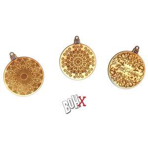 Tre decori natalizi da appendere, prodotti esclusivamente per Bohx da Objlaser