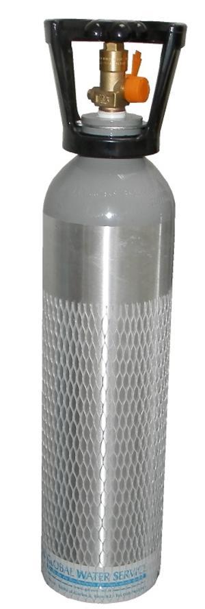 Bombola Co2 5Kg Luxfer completa di adattatore.