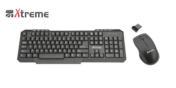 TASTIERA XTREME + MOUSE COMBO WIRELESS 2.4GH
