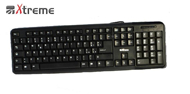 TASTIERA XTREME X PC USB NERA