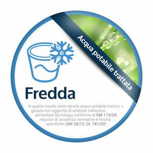 """Adesivo per medaglione spina """"Acqua Fredda"""""""