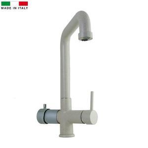Miscelatore 5 vie Elios Fragranite canna alta per acqua fredda,frizzante,ambiente più l'acqua calda e fredda dell'impianto di casa.