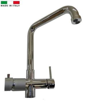 Miscelatore 5 vie Elios Cromo canna alta per acqua fredda,frizzante,ambiente più l'acqua calda e fredda dell'impianto di casa.