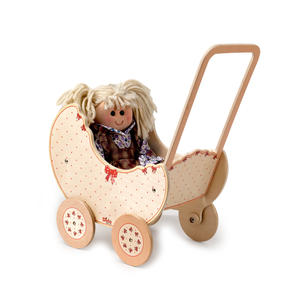 Carrozzina Fiocco per Bambole in Legno Naturale per Bambini di Dida