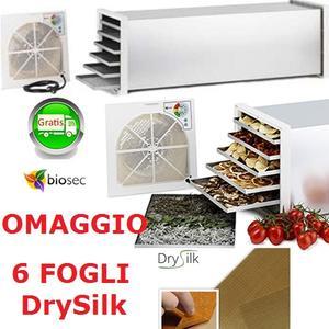 Essicatore Essiccatore BIOSEC DE LUXE B6 INOX 6 cestelli in acciaio inox Biosec DE LUXE 6 TAURO OMAGGIO 6 fogli DrySilk